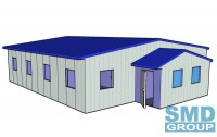 Prefabricated house for 20 workers